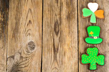 Gingerbread cookies with picture for St. Patrick's Day