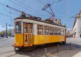 Lisbon. Old tram.