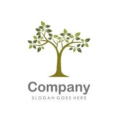 Creative and unique tree logo vector