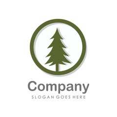 Creative and unique pine tree logo vector