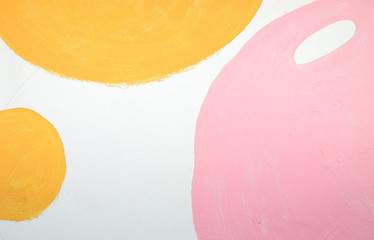 Wall design with circles multicolor