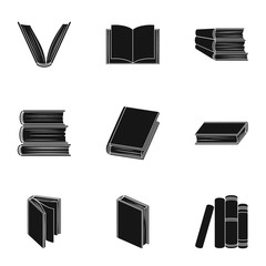 A set of pictures with books. Books, notebooks, studies. Books icon in set collection on black style vector symbol stock illustration.