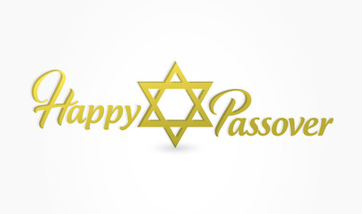 Happy passover sign illustration design isolated