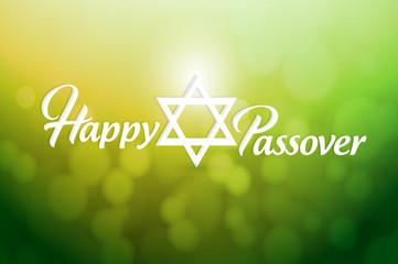 Happy passover sign card illustration design