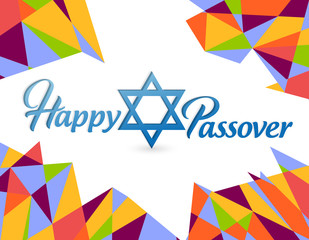 Happy passover sign card illustration