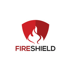 Fire Shield logo template designs