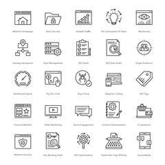 Web and SEO Line Vector Icons 6