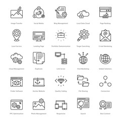 Web and SEO Line Vector Icons 10