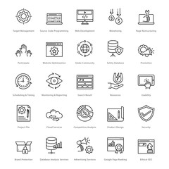 Web and SEO Line Vector Icons 13