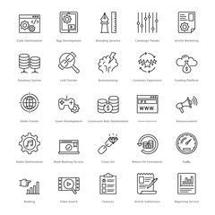 Web and SEO Line Vector Icons 14