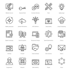 Web and SEO Line Vector Icons 17
