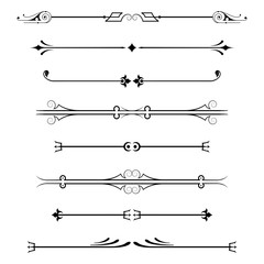set of calligraphic design elements and page decor.