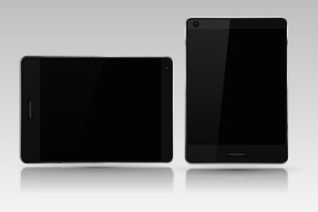 Tablet mockup. Black device