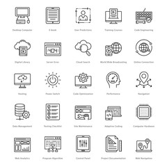 Web and SEO Line Vector Icons 27