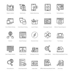 Web and SEO Line Vector Icons 30
