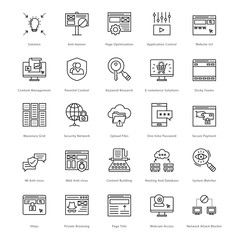 Web and SEO Line Vector Icons 35