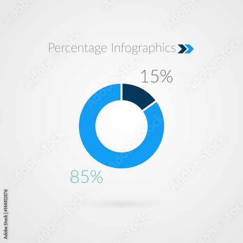 15 85 percent blue pie chart symbol percentage vector infographics 15 85 percent blue pie chart symbol percentage vector infographics circle diagram isolated ccuart Image collections