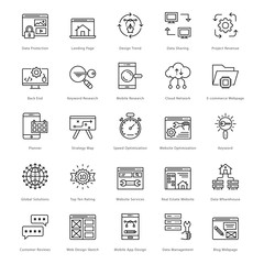 Web and SEO Line Vector Icons 41