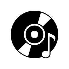 CD, DVD with music symbol