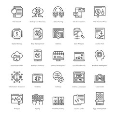 Web and SEO Line Vector Icons 53