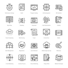 Web and SEO Line Vector Icons 54
