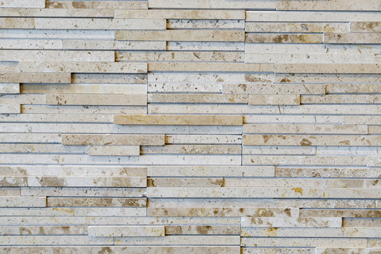 Close up of a brick-wall pattern, Modern white stone texture background