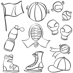 Doodle of object sport equipment