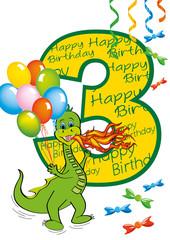 buon compleanno bambino numero 3 con draghetto