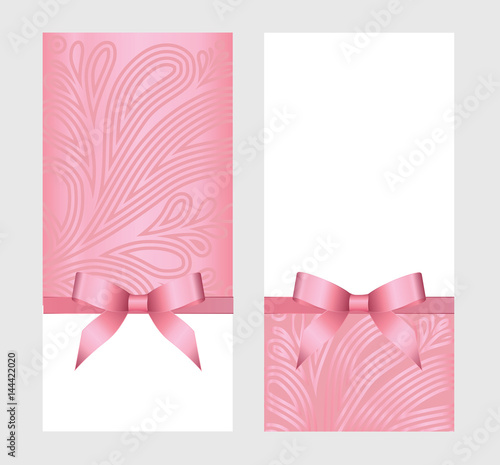 Gift certificate gift card with pink ribbon and a bow on white gift certificate gift card with pink ribbon and a bow on white background gift yadclub Image collections