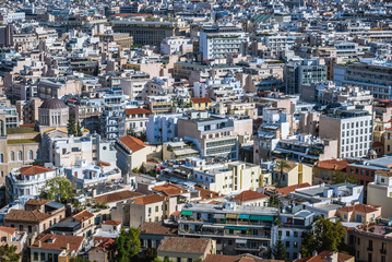 Cityscape of Athens, Greece - view from Acropolis hill