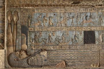 Wandrelief im Tempel von Dendera