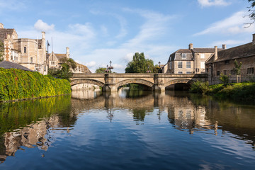 River Welland in Stamford, Lincolnshire, England, UK