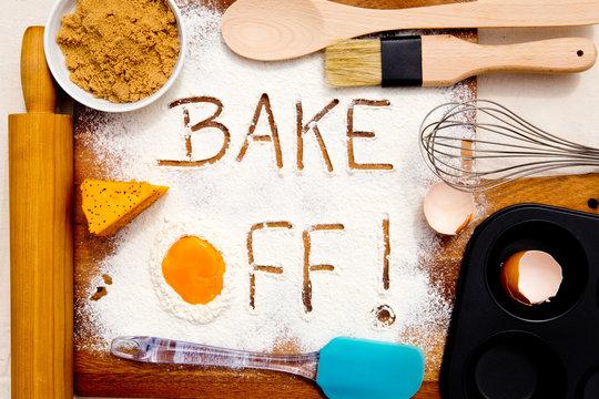 Baking - Bake Off - written in flour