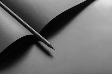 Mockup of blank book