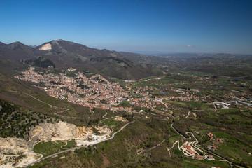 Panorama di Montella (Avellino) dal Santuario del SS Redentore