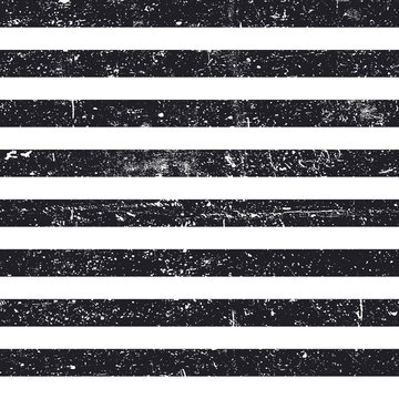 Black textured lines seamless pattern. Stripes vintage pattern. Abstract retro background