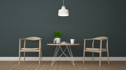 dining area in coffee shop or dining room - 3D Rendering