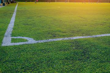 Children play football