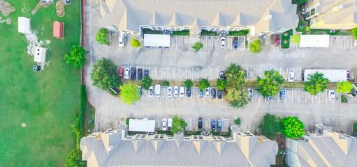 Apartment garage aerial vintage