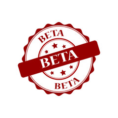 Beta red stamp illustration
