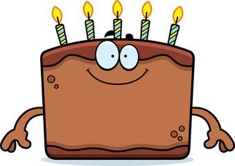Happy Cartoon Birthday Cake