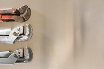 Gas keys on the background sheet metal.