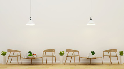 dining area in restaurant or coffee shop - 3D Rendering