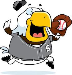 Cartoon Eagle Baseball