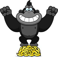 Cartoon Gorilla Bananas
