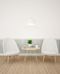 living area in coffee shop or lounge - 3D Rendering