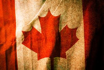 Canada national flag,Grunge background