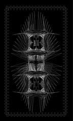 Tarot cards - back design, Scandinavian amulet