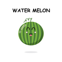 watermelon character in white background
