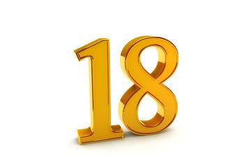 Gold number eighteen